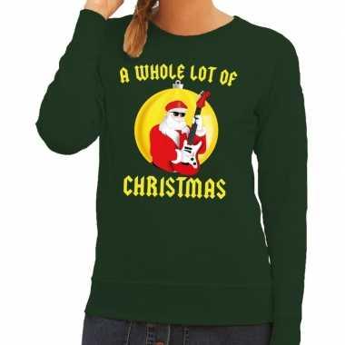 Foute kerstkersttrui groen a whole lot of christmas voor dames