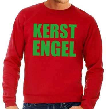 Foute kerstkersttrui kerst engel rood voor heren