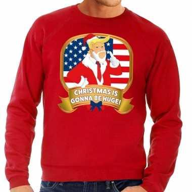 Foute kerstkersttrui rood christmas is gonne be huge voor heren