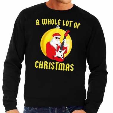 Foute kerstkersttrui zwart a whole lot of christmas voor heren