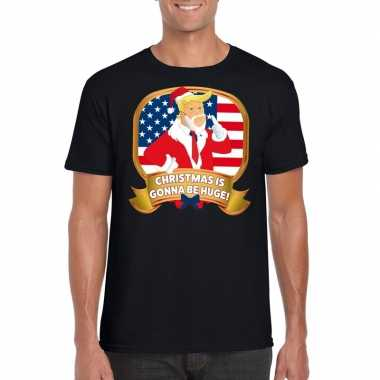 Foute president trump shirt zwart christmas is gonna be huge voor man