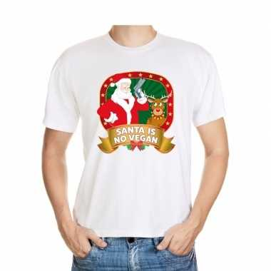 Foute shirt wit santa is no vegan voor mannen