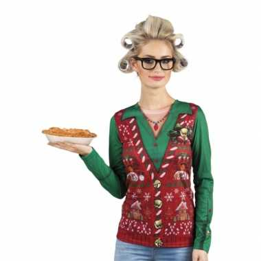 Kerstkersttrui opdruk damesshirt