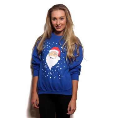 Kersttrui blauw ho ho ho