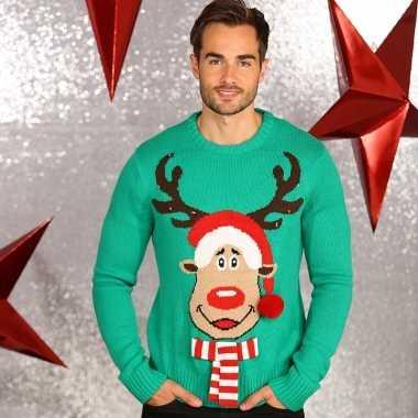Heren Kersttrui Kopen.Kersttrui Groen Voor Mannen Kersttruien Kopen Nl