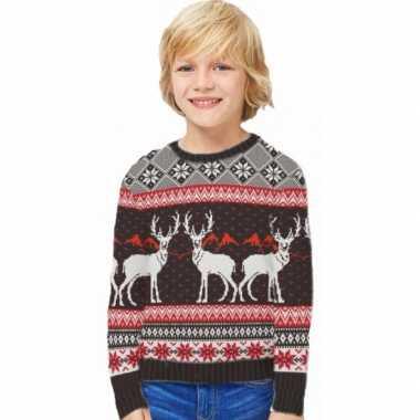 Kersttrui happy reindeers voor kids