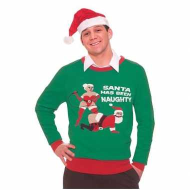 Kersttrui Naughty Santa