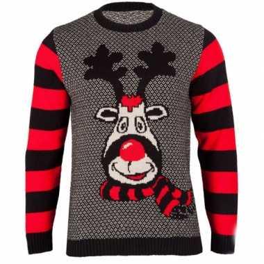 Kersttrui rudy reindeer voor vrouwen