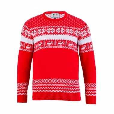 Kersttrui the red nordic voor mannen