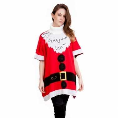 Poncho kerstvrouw