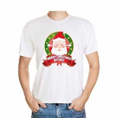 Ugly shirt wit merry christmas bitches voor mannen