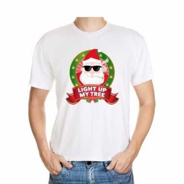 Ugly shirt wit wiet rokende kerstman voor mannen