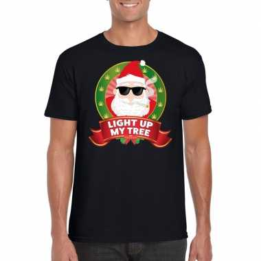 Ugly shirt zwart wiet rokende kerstman voor mannen