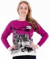 Kersttrui pink london voor vrouwen